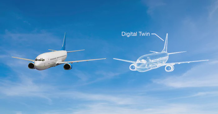 Aircraft logistics digital twin