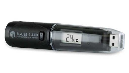 temperature data logger with USB and built in LCD
