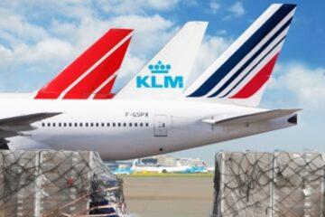 air France KLM Martin air tails
