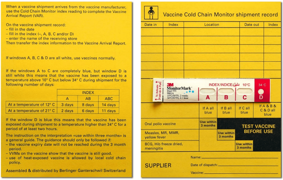 cold chain transport vaccine monitoring record