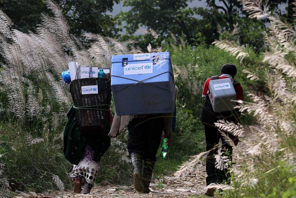 vaccine last mile delivery in Nepal