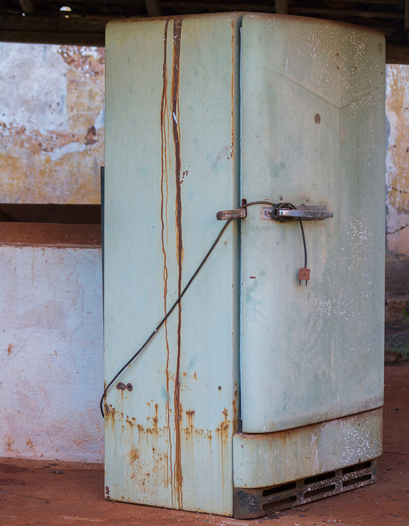 old refrigerators and cold chain equipment