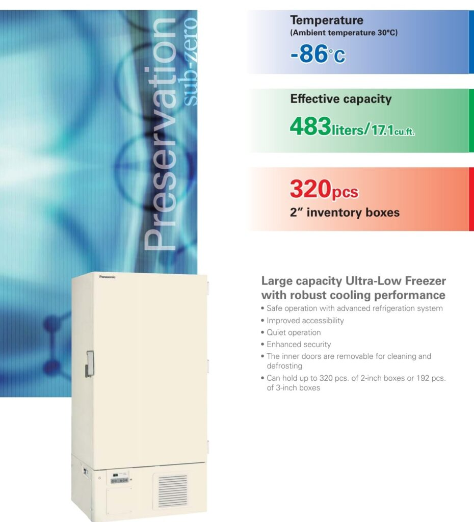 Ultralow freezer features