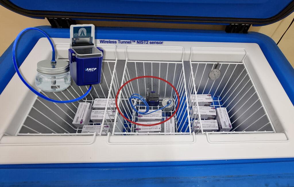 Good Pharmaceutical Storage Monitoring freezers using AKCP Wireless sensors